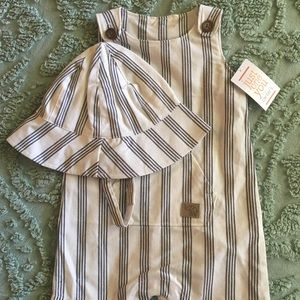 Summer Baby Romper and Hat Sz 6 months